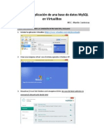 Replicacion MySQL VirtualBox