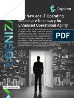 Why New-age IT Operating Models are Necessary for Enhanced Operational Agility