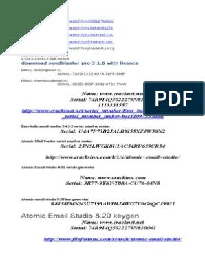 atomic mail sender 9 serial