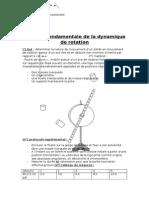 Tp Physique Dynamique de Rotation