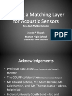 Making a Matching Layer for Acoustic Sensors for a Dark Matter Detector
