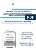Presentac Direct 015 GG ESSALUD 2014