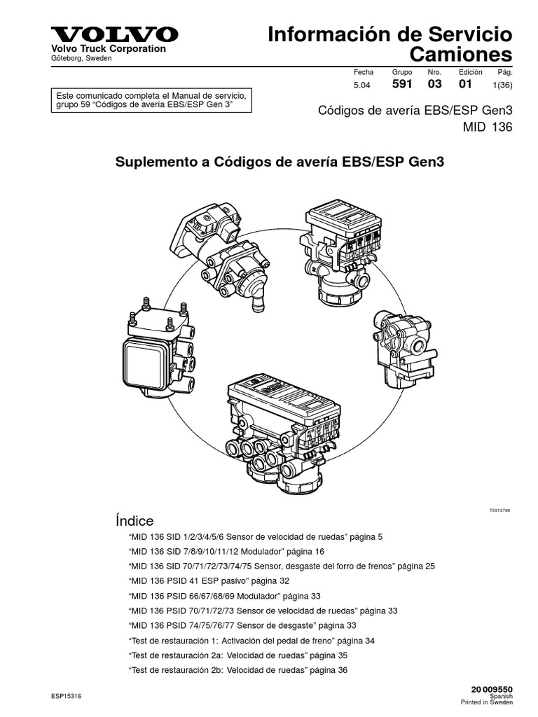 59  MID 136  Codigo averias EBS pdf | Eje | Sistema