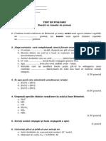 Test XII Reactii Cu Transfer de Protoni