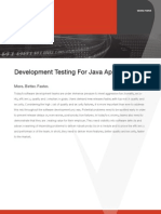 Development Testing for Java Applications