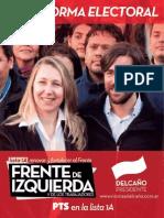 Plataforma electoral Lista 1A - Renovar y fortalecer el Frente