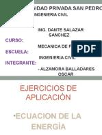 Ejercicios de Aplicaciòn Ec. Energìa , Ec Movimiento