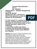 MF0012 Taxation