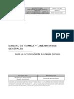 If-P12-MN01 Manual de Normas y Lineamientos Interventoría de Obras Civiles