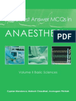 Single Best Answer MCQs in Anaesthesia 2