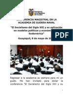 Correa 2012-05-08 Conferencia Socialismo Siglo Xxi