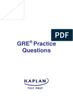 GRE exam Practice Questions