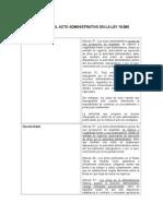 Efectos Del Acto Administrativo en La Ley 19.880