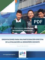 Cuadernillo Orientaciones para una participación efectiva en la evaluación al desempeño docente