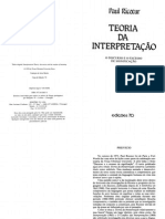 Paul Ricoeur - Teoria Da Interpretação - O Discurso e o Excesso de Significação (1976)