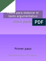 Pasos Para Elaborar El Texto Argumentativo