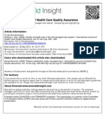 Quality of Health Care in the US Managed Care System Comparing and Highlighting Successful States