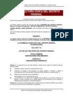 Ley de Cultura Cívica Del Distrito Federal
