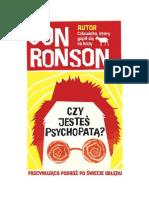 Czy Jestes Psychopata_ - Jon Ronson