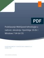 Podešavanje WebSpeed Tehnologije u Radnom Okruženju OpenEdge 10.2b i Windows 7 64-Bit OS