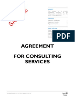 Agreement for Consulting Services Template Sample