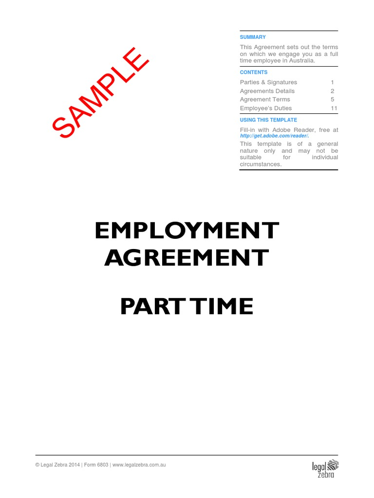 Employment agreement contracts | pdf | word.