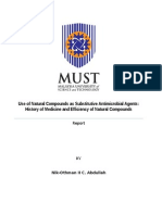 Use of Natural Compounds as Substitutive Antimicrobial Agents History of Medicine and Efficiency of Natural Compounds