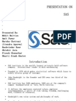 Presentation on Sas