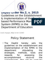 Deped Order No. 2 Rpms