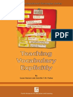 Teaching Vocabulary Explicitely