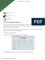 Hacer Un Log Con Vag Com - Vagcom en Español