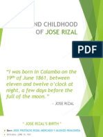 Birth and Childhood of Jose Rizal