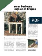 Construire Un Barbecue en Parpaings Et Briques
