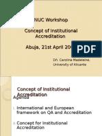Concept Instutional Accreditation Abuja