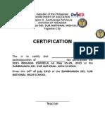 Certification for Brigada