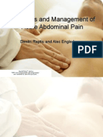 Diagnosis and Management of Acute Abdominal Pain