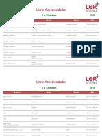 Listas do Plano Nacional de Leitura (PNL)
