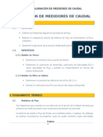 CALIBRACION DE MEDIDORES DE CAUDAL
