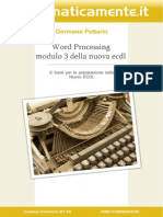 Ecdl Modulo3 Word Processing