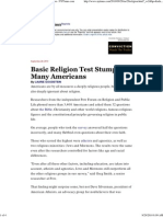 Laurie Goodstein - Basic Religion Test Stumps Many Americans