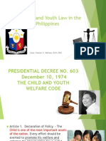 The Child and Youth Law in the Philippines