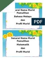 Senarai Nama Murid Pem Dan Profil Murid