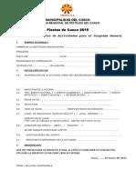 Ficha de Inscripcion de Eventos 2015