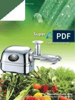Super Ange Juicer Manual