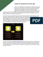 Adiós Mensajes Privados De Snapchat Con Esta App