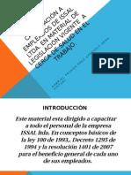 Capacitación a Emplesados de Issal Ltda.
