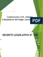 DL N° 728 Y LOS DIFERENTES REGÍMENES LABORALES EN EL PERU
