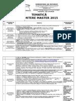 Tematica Master 2015