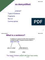 sentences extra