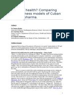 Profit vs Health Comparing Cuban and US Pharma 2015